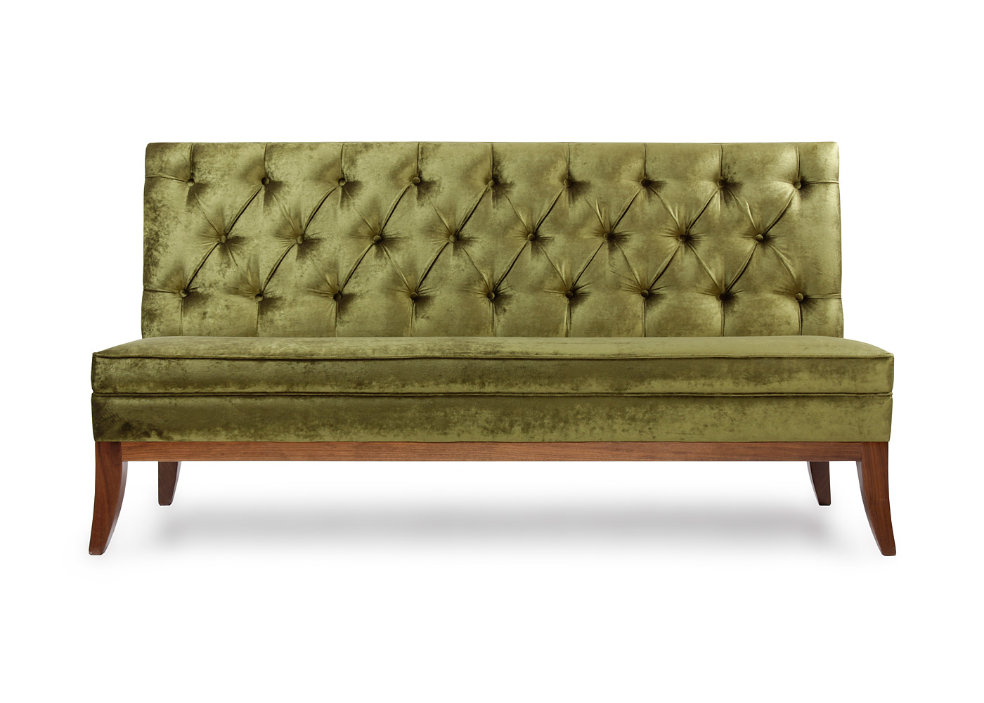 Deep Buttoned Banquette with legs