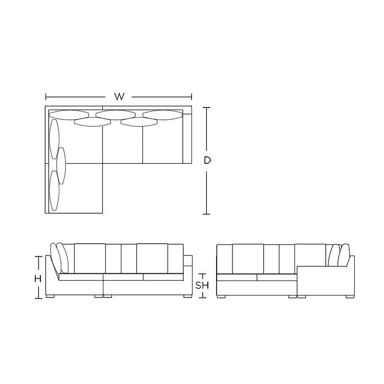 Modular Sofa - Left arm, closed