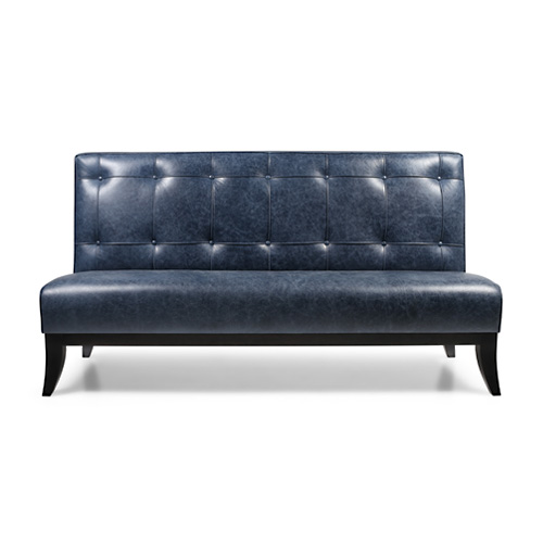 Float buttoned banquette with legs